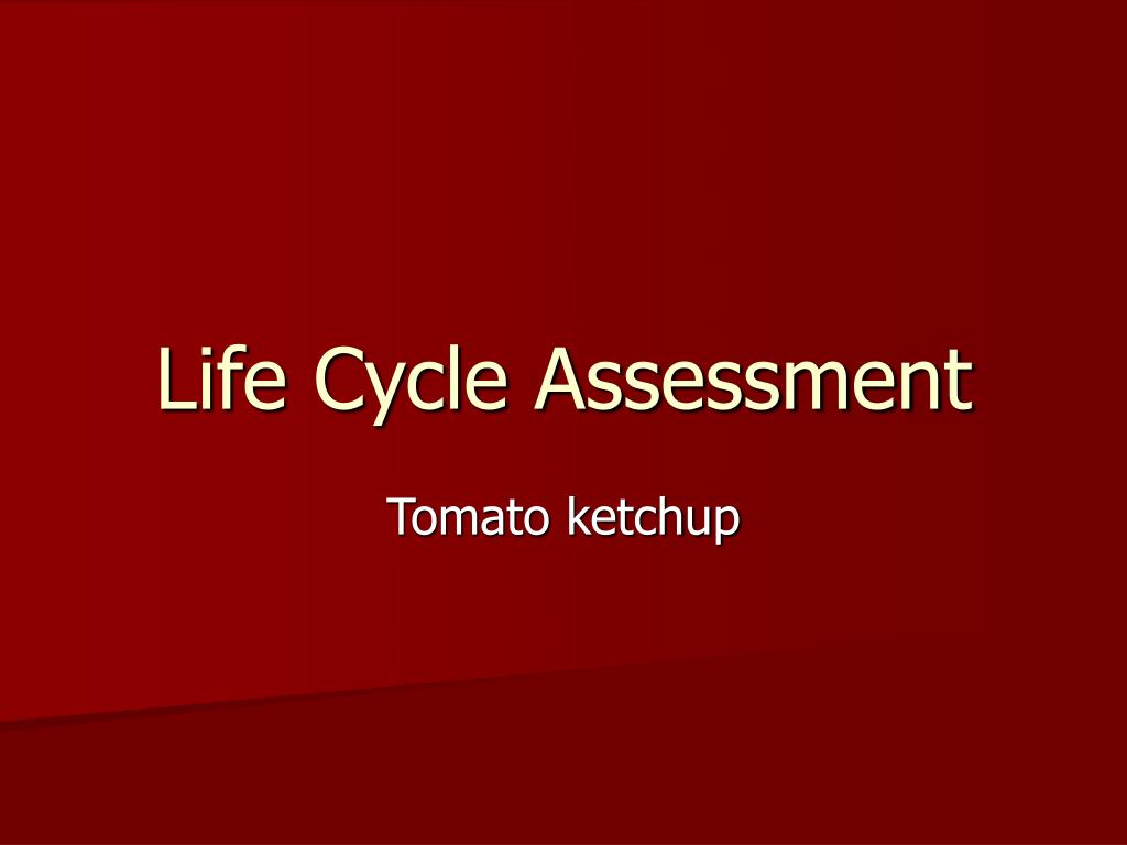 life cycle assessment l.