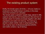 the existing product system