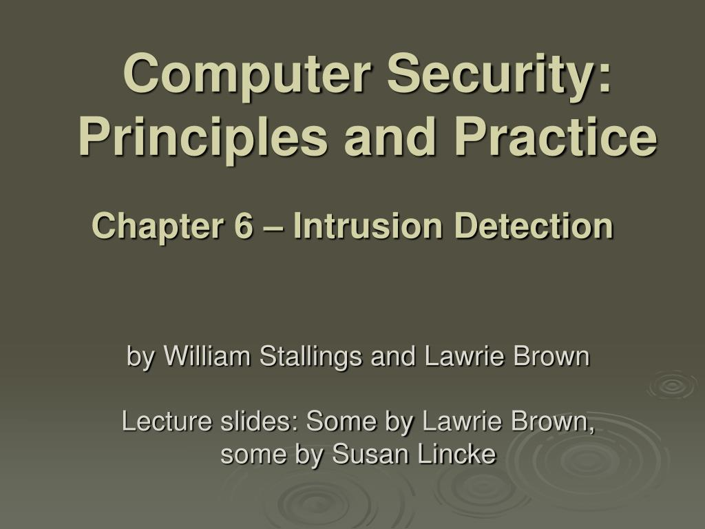 computer security principles and practice l.