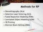 methods for rp