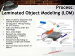 process laminated object modeling lom