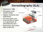 stereolitography sla