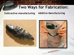 two ways for fabrication