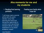aha moments for me and my students