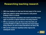 researching teaching research