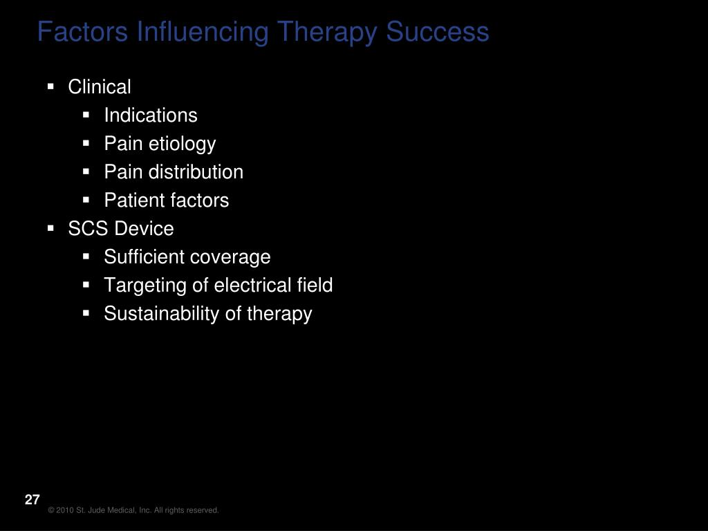 Factors Influencing Therapy Success