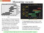 measuring vacuum