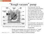 rough vacuum pump