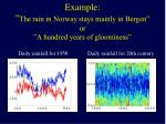 example the rain in norway stays mainly in bergen or a hundred years of gloominess