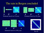 the rain in bergen concluded