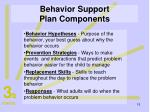 behavior support plan components