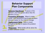 behavior support plan components62
