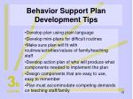 behavior support plan development tips