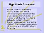 hypothesis statement10