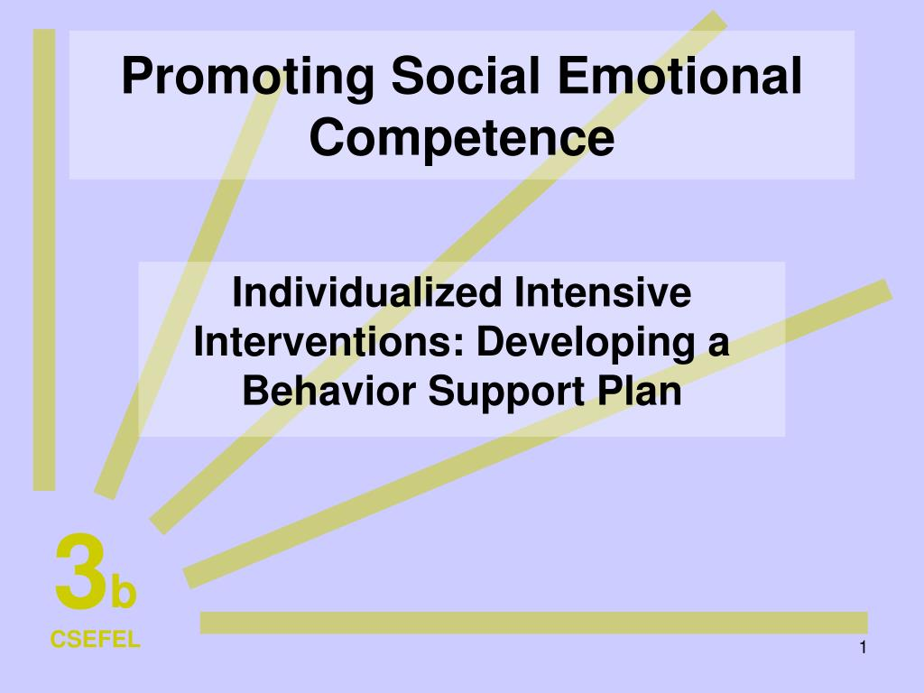 promoting social emotional competence l.