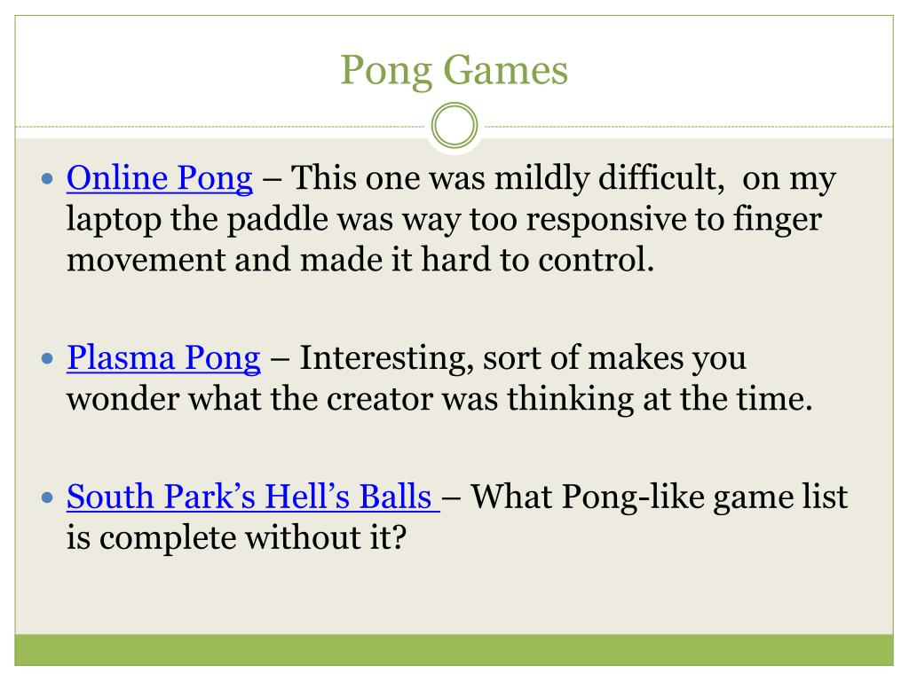 Pong Games