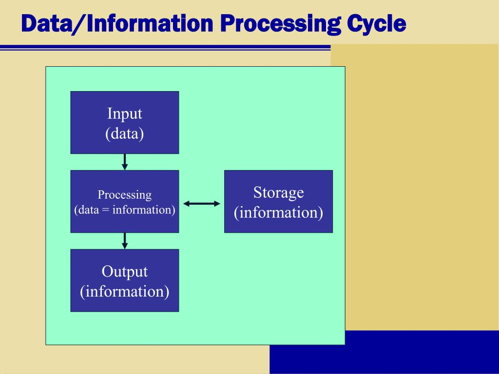 Data/Information Processing Cycle