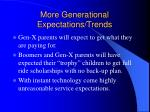 more generational expectations trends