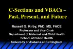 c sections and vbacs past present and future