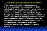 commentary on elective cesareans
