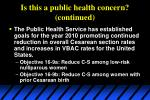 is this a public health concern continued