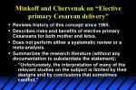 minkoff and chervenak on elective primary cesarean delivery