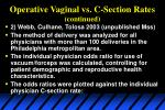operative vaginal vs c section rates continued