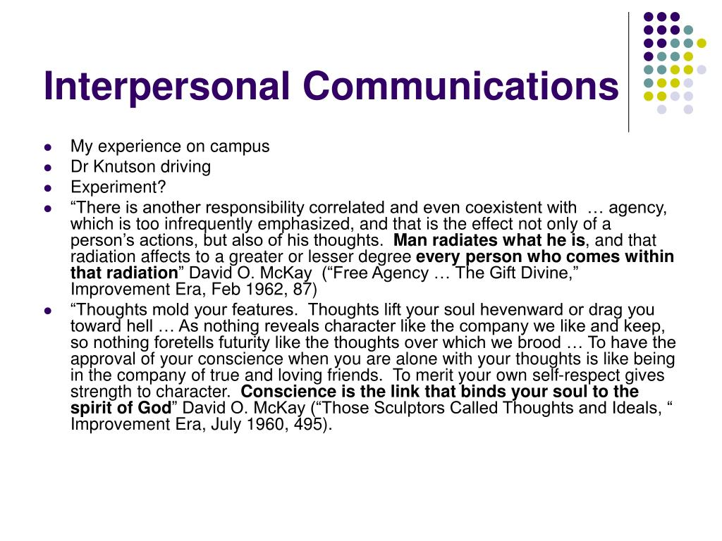interpersonal communications l.