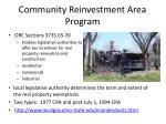 community reinvestment area program