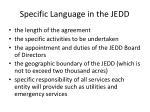 specific language in the jedd