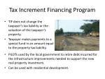 tax increment financing program48