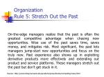 organization rule 5 stretch o ut the past