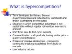 what is hypercompetition