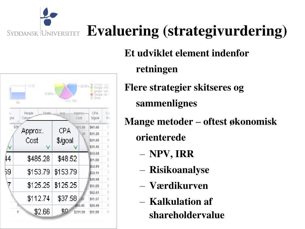 Evaluering (strategivurdering)