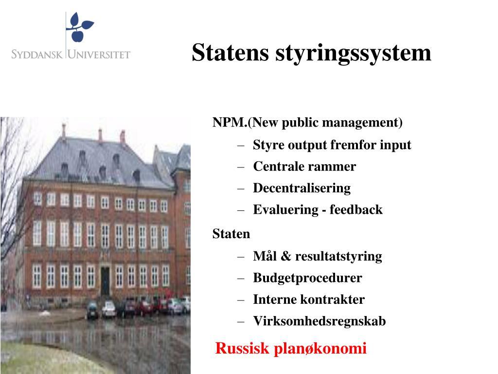Statens styringssystem