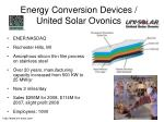 energy conversion devices united solar ovonics