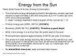 energy from the sun11