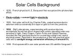 solar cells background