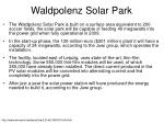 waldpolenz solar park