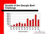 growth of the georgia beef challenge