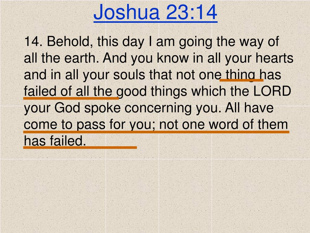 Joshua 23:14