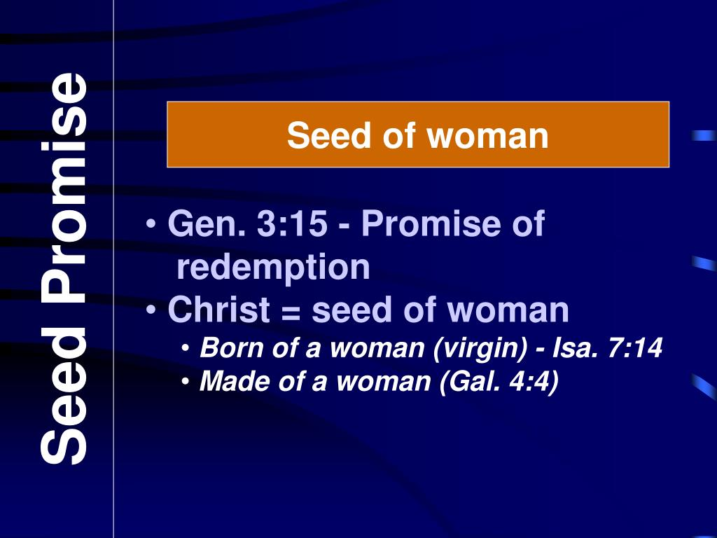 Seed of woman