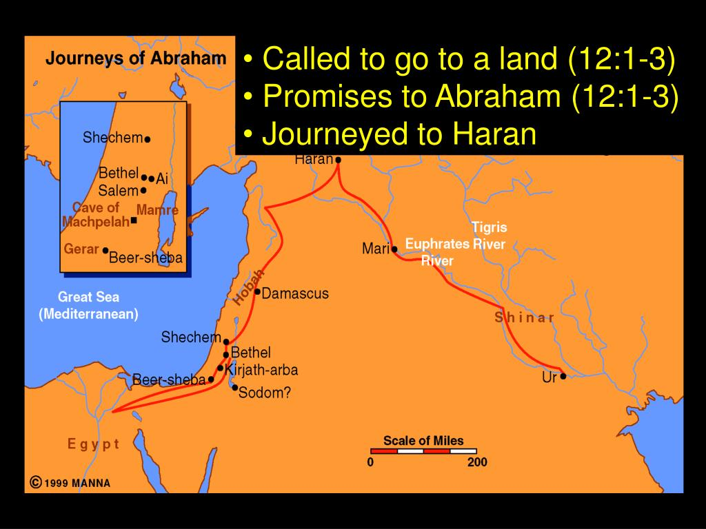 Called to go to a land (12:1-3)