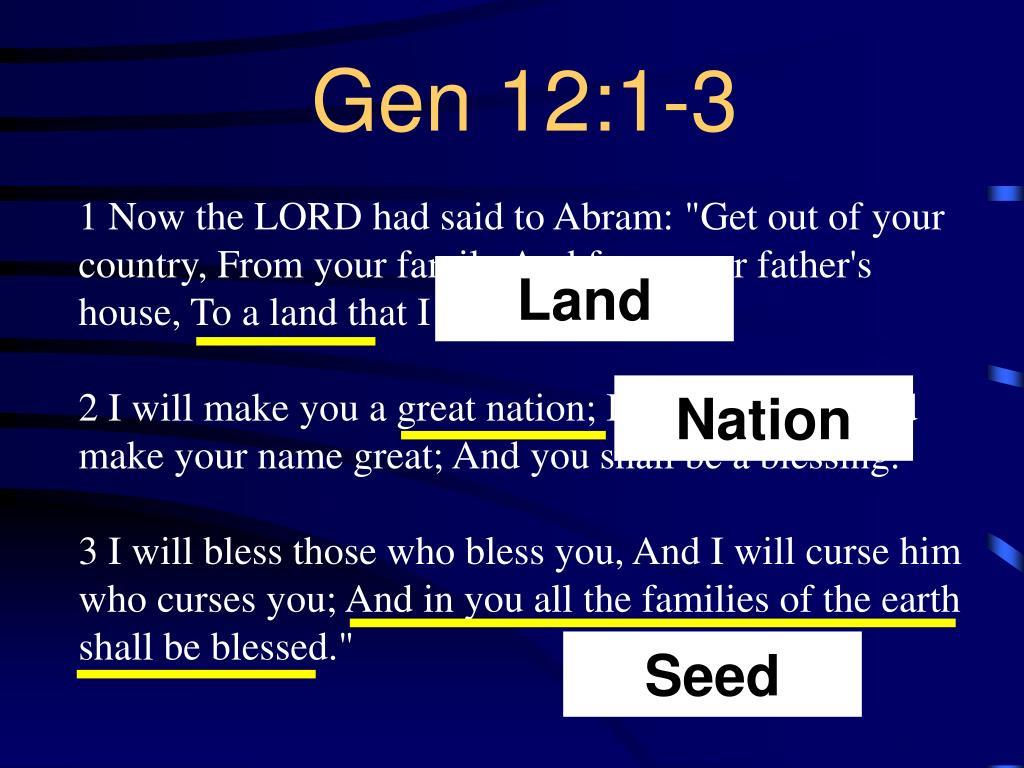 Gen 12:1-3