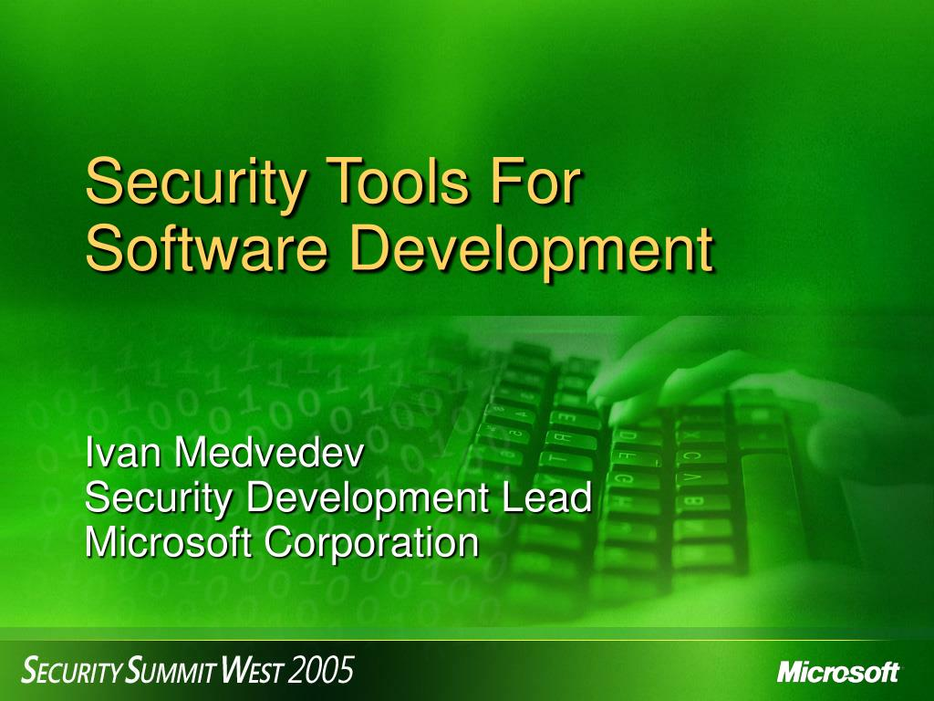 security tools for software development l.