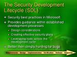 the security development lifecycle sdl