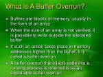 what is a buffer overrun