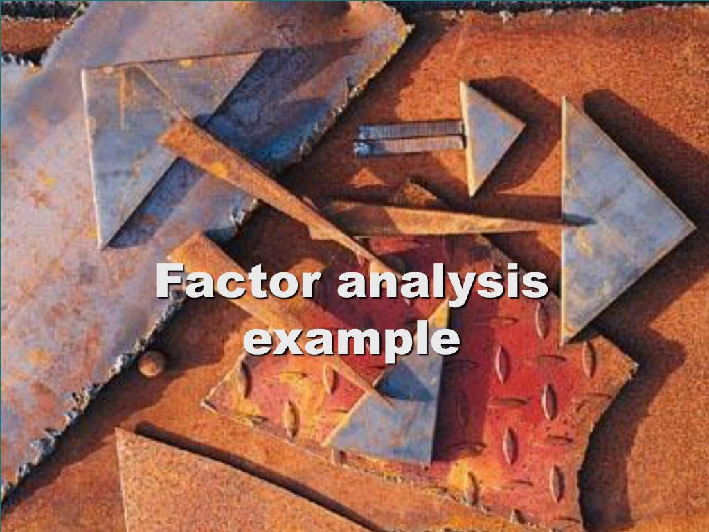factor analysis example l.