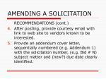amending a solicitation43
