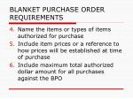 blanket purchase order requirements161